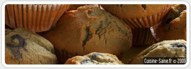 Recette bio : Muffins aux myrtilles sans gluten
