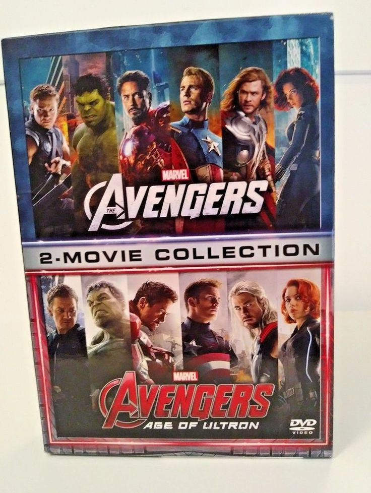 Marvels Avengers 2 Movie Collection DVD Double Feature Age of Ultron