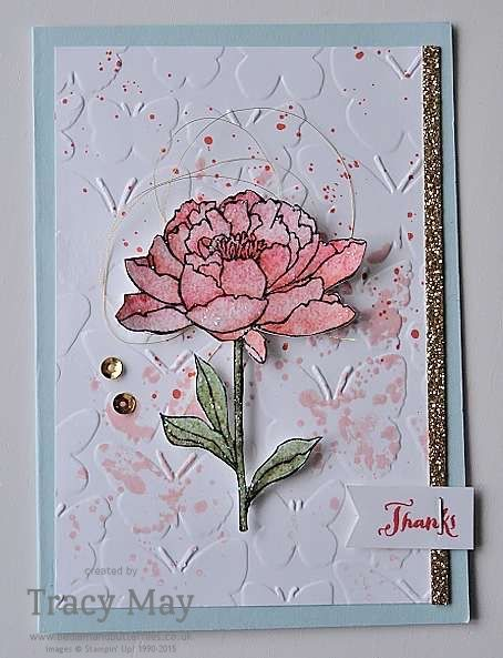 Pretty card using Stampin' Up! products Tracy May card making ideas