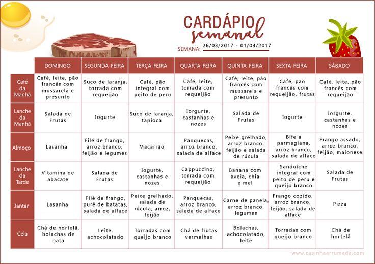 Elaborar um cardápio semanal é listar todas as refeições que você vai realizar. As vantagens são benefícios para a saúde, economia de tempo e de dinheiro.