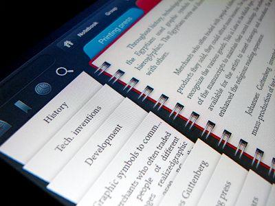 Notebook ipad app design