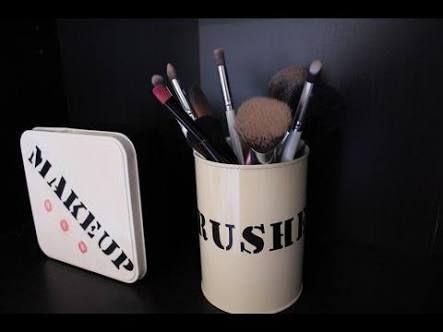 Resultado de imagen para como hacer un organizador de maquillaje