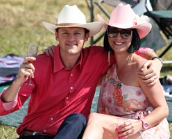 Tom and Angela Van Herzele enjoying a day out at the #BMWPolo in Shongweni near Durban