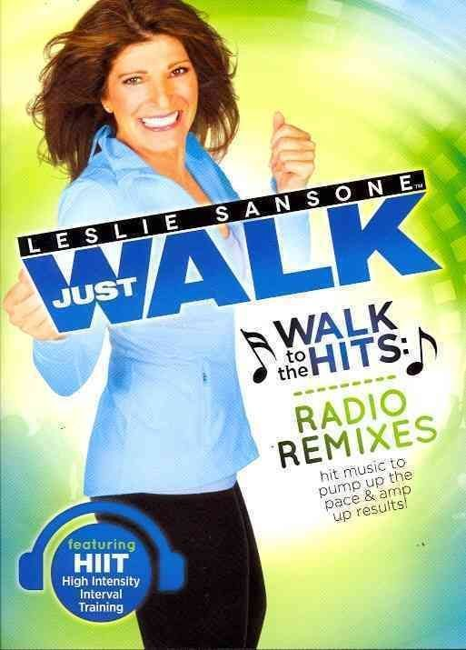 Weight Loss Fitness DVD Leslie Sans one Walk To The Hits Radio Remixes Home Gym: