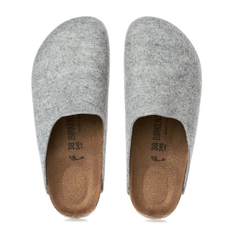Birkenstock Slippers - Birkenstock Amsterdam Women's Slippers - Light Grey