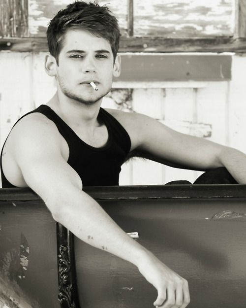 Tony Oller Smoking In Black & White