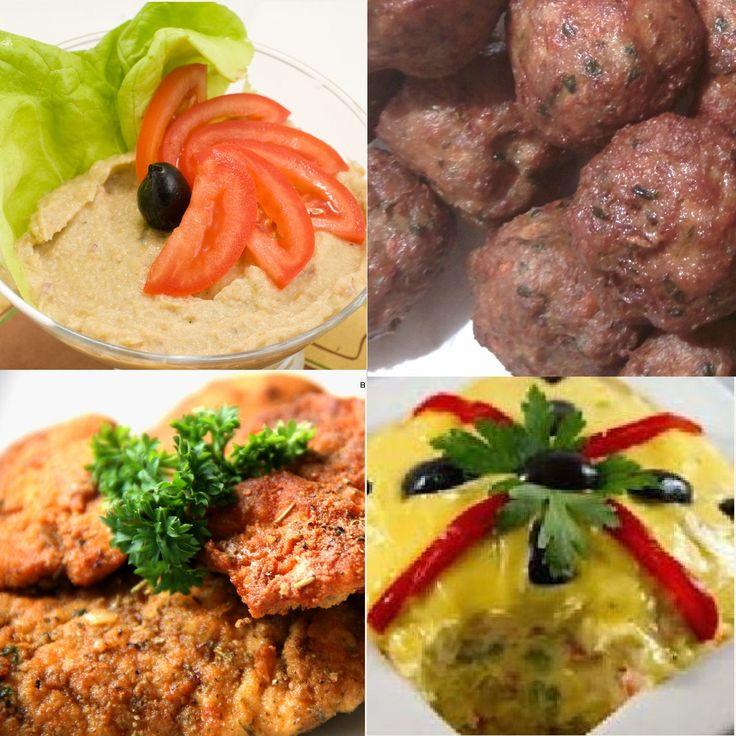 Meniu Salata de Vinete, Chiftele de Porc, Snitele de Pui si Salata de Boeuf