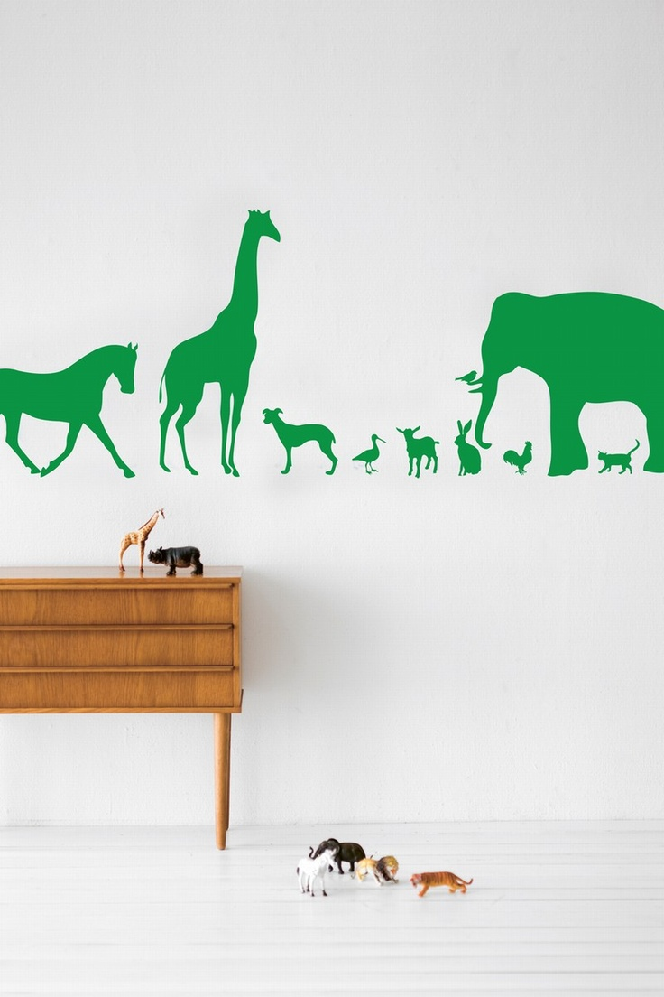 Ferm Living Wall Decal Animal Farm - Green