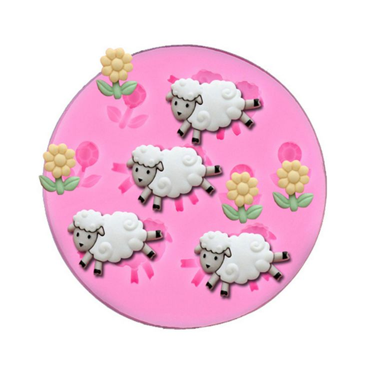 Silicone DIY 3D Little Sheep Fondant Mold Christmas Gift Wedding Chocolate Cake Decorating Mold Silicone Baking Tools #DIYChristmasGifts