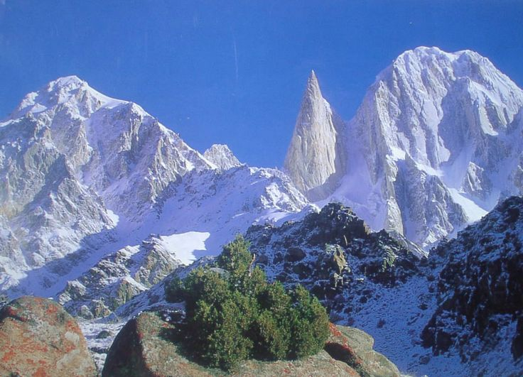 Bublimotin, Bubli Motin, Bublimating or Ladyfinger Peak, is a distinctive rock spire in the Batura Muztagh, the westernmost subrange of the Karakoram range
