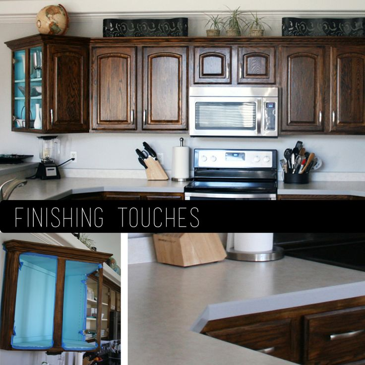 *How To Re Stain Cabinets* Step By Step! She Used Minewax Dark Walnut Stain.