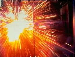 An Arc Flash is an electrical explosion due to a fault condition or short circuit when either a phase to ground or phase to phase conductor is connected and current flows through the air.