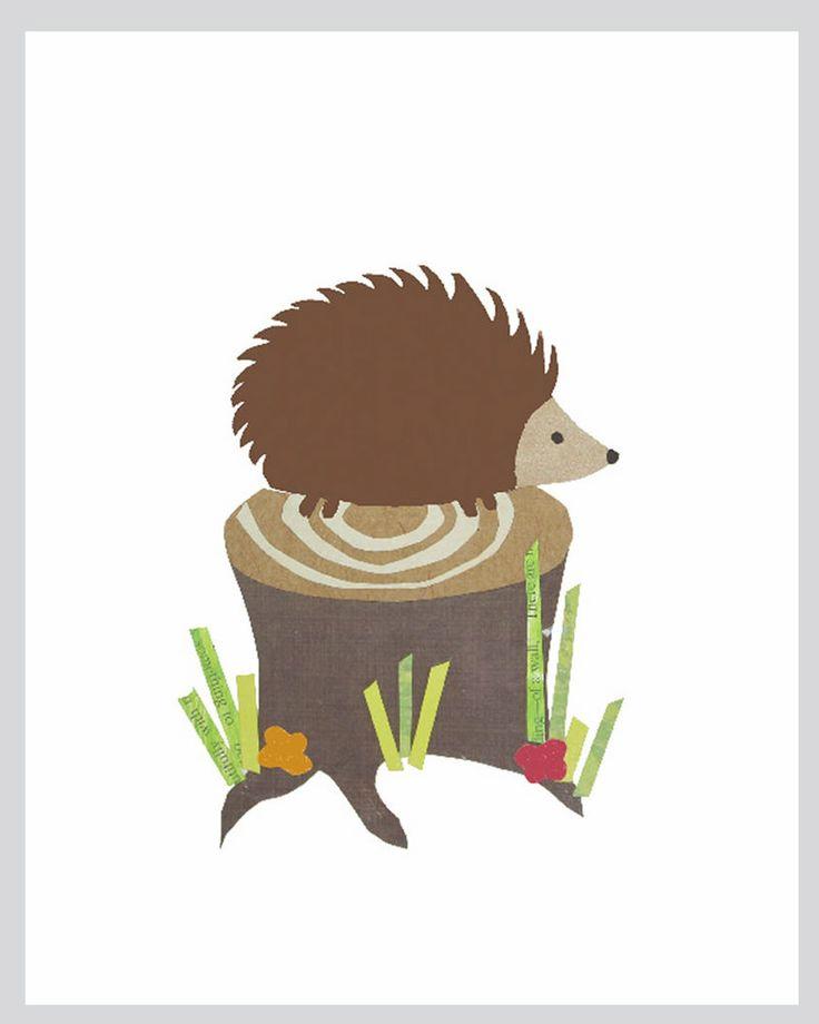 Hedgehog print by Rebecca Peragine of Children Inspire Design