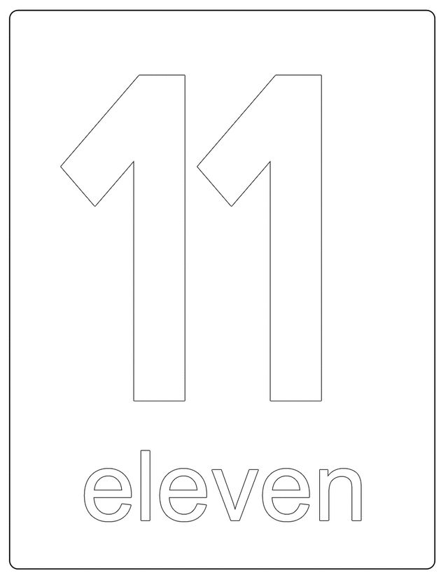 25 best letters images on pinterest appliques letters for Number 11 coloring page