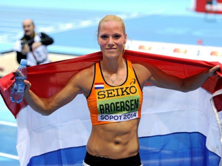 Nadine Broersen is wereldkampioene op de Indoor 5 kamp atletiek 2014 in Sopot (Polen).