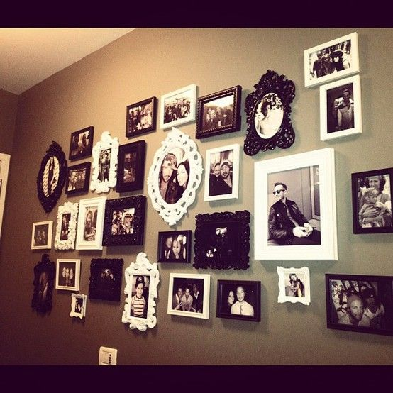 wall decor, photo collage, frames    courtesy of @Laura Ditzig Lentz via @instagram - Click image to find more Home Decor Pinterest pins