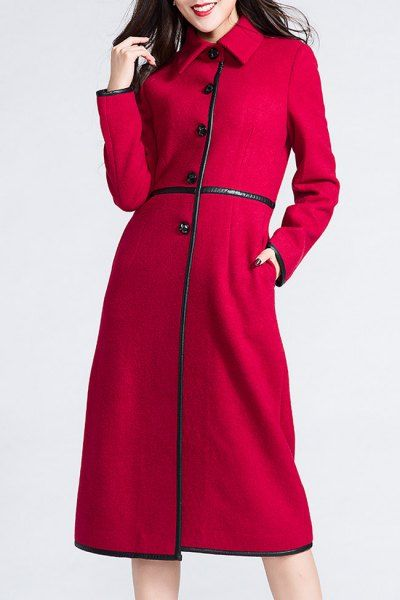 #Dezzal Shop BORME Single Breasted Contrast Coat here, find your Women's at AdoreWe.net, huge selection and best quality.