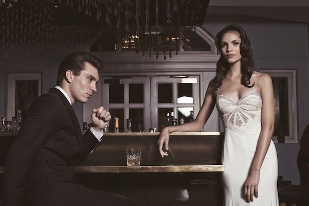 Town Hall Hotel wedding shoot featuring Inbal Dror wedding dresses - see more on Bridal Musings: http://bridalmusings.com/2014/03/glamourous-city-chic-wedding-inspiration-town-hall-hotel-london/