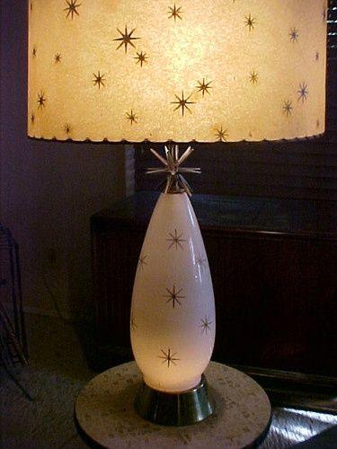 vintage mid century atomic starburst lamp shades -…