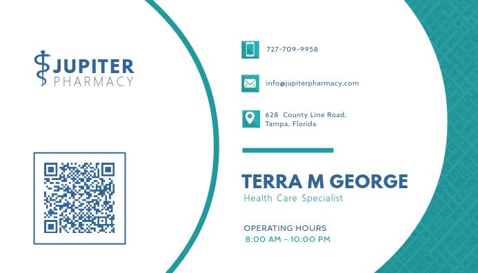 Turquoise Health Business Card Design Medical Business Card Business Card Template Design Health Business