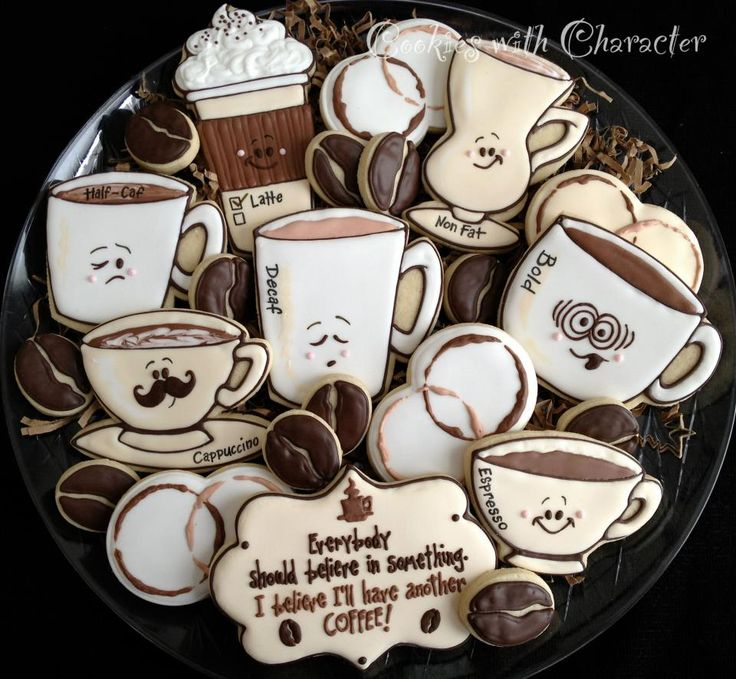 Coffee Cookies by Cookies With Character!  So awesome!  https://www.facebook.com/photo.php?fbid=502101629835919=pb.216082438437841.-2207520000.1362348805=3