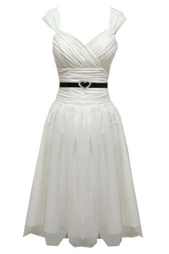 vintage sweetheart tea length wedding dress with straps $206