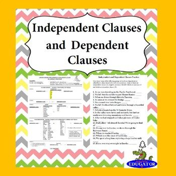 Independent Clauses and Dependent Clauses in sentence structure. Help your students understand sentence structure and how to make compound sentences, complex sentences, and compound-complex sentences.  Explains how to form compound sentences using independent clauses with commas and conjunctions or semicolons,and also with semicolons and transitional words.