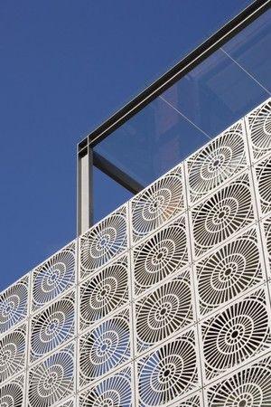 Modern Mashrabiya for Villa Facade