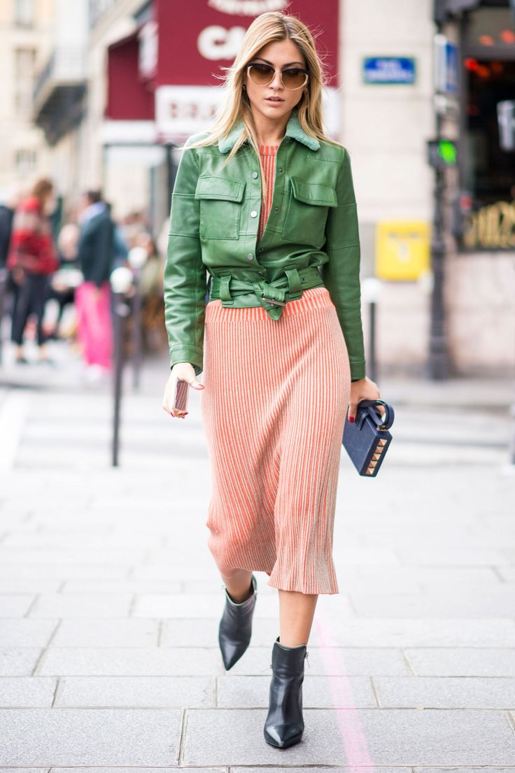 Paris Fashion Week Ss17 Street Style Day 4 Estilo Sofisticado Militar Y Chaquetas