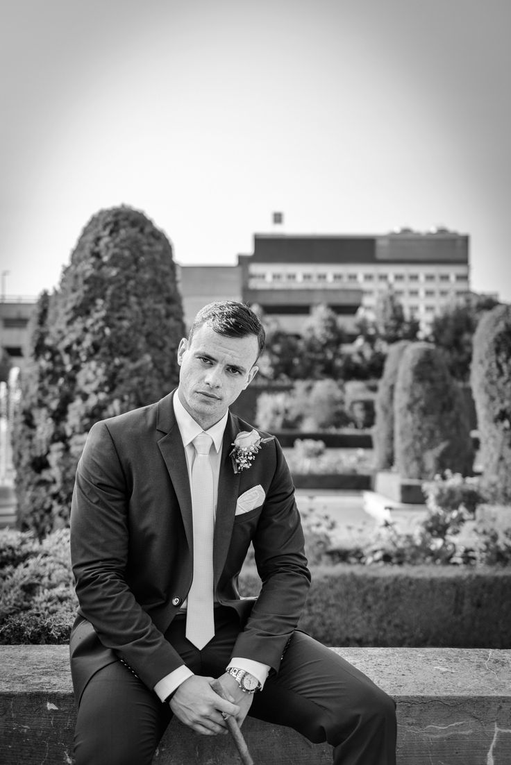 Black and white portrait of the groom   Parkwood Estate, Oshawa   Toronto Wedding Photographer Pedram Navid