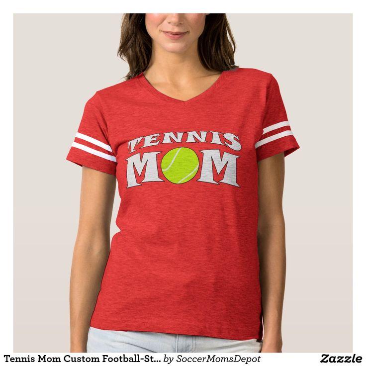 Tennis Mom Custom Football-Style Jersey Shirt #tennis #mom #jersey #tennismom #outfit #shirt #sports