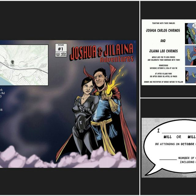 From Weddinglantern On Etsy Comic Book Wedding Invitations And Save The Dates