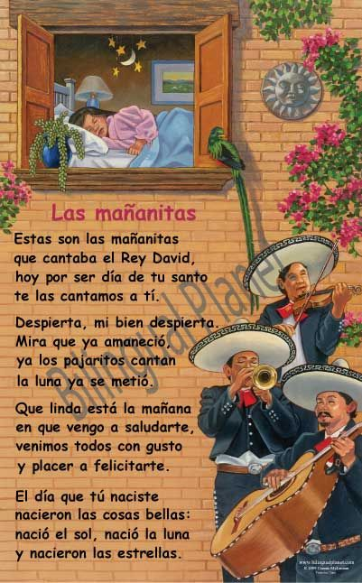 Las Mananitas ~ I love this song! When I was little it was tradition to go to somebody's birthday very early in the morn, and sing this song in celebration. ~