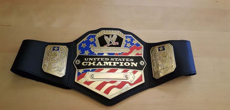 WWE United States Championship Belt Replica Title WWF Wrestling MATTEL COSPLAY