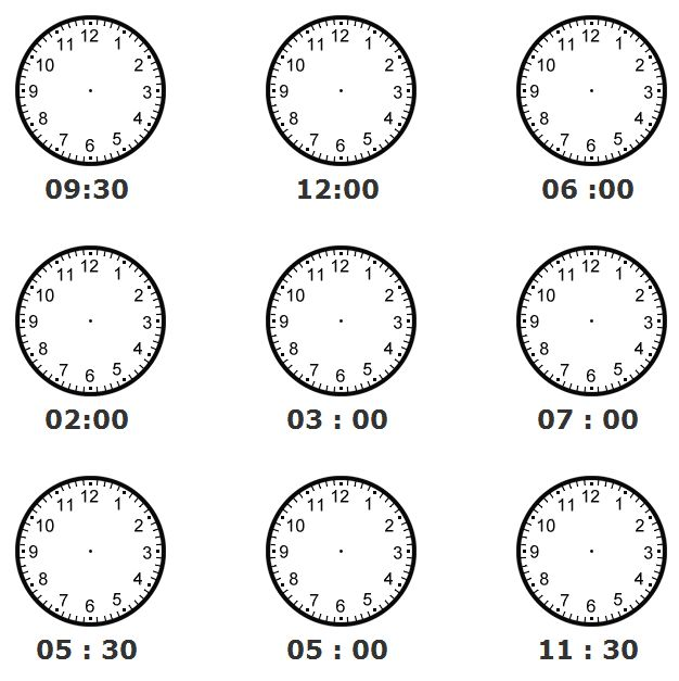 13 best Telling Time images on Pinterest Telling time, The hours
