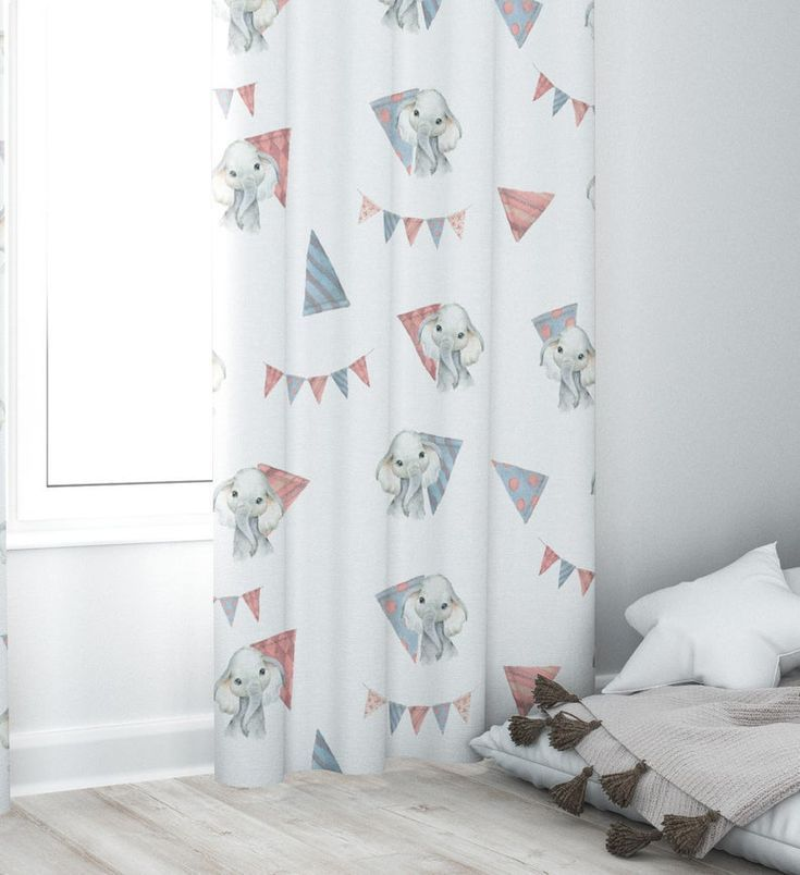 Elephant Nursery Curtains Baby Room Curtains Neutral Nursery Curtains Elephant T Baby Curtain In 2020 Elephant Nursery Curtains Baby Room Curtains Baby Room Colors