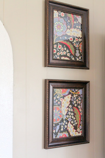 The Cottage Home: Inexpensive Wall Art ~ Decorating with Paper
