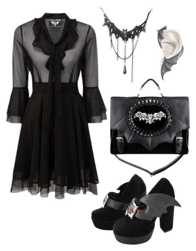 """""""Bat Mourning"""" by purchasedharpy on Polyvore"""