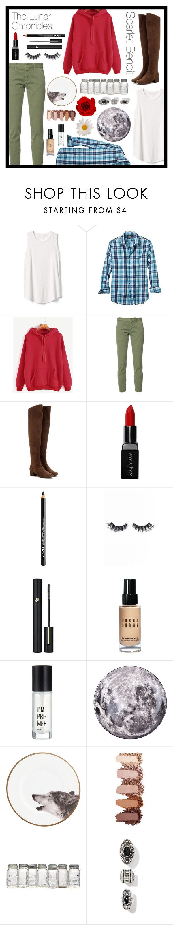 """Scarlet Benoit"" by geekydesigner ❤ liked on Polyvore featuring Gap, Banana Republic, Nili Lotan, Yves Saint Laurent, Smashbox, NYX, Violet Voss, Lancôme, Bobbi Brown Cosmetics and Charlotte Russe"