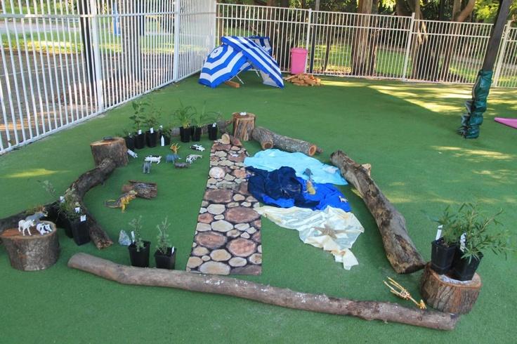 18 best forest kindergartens images on pinterest outdoor for Kindergarten playground design