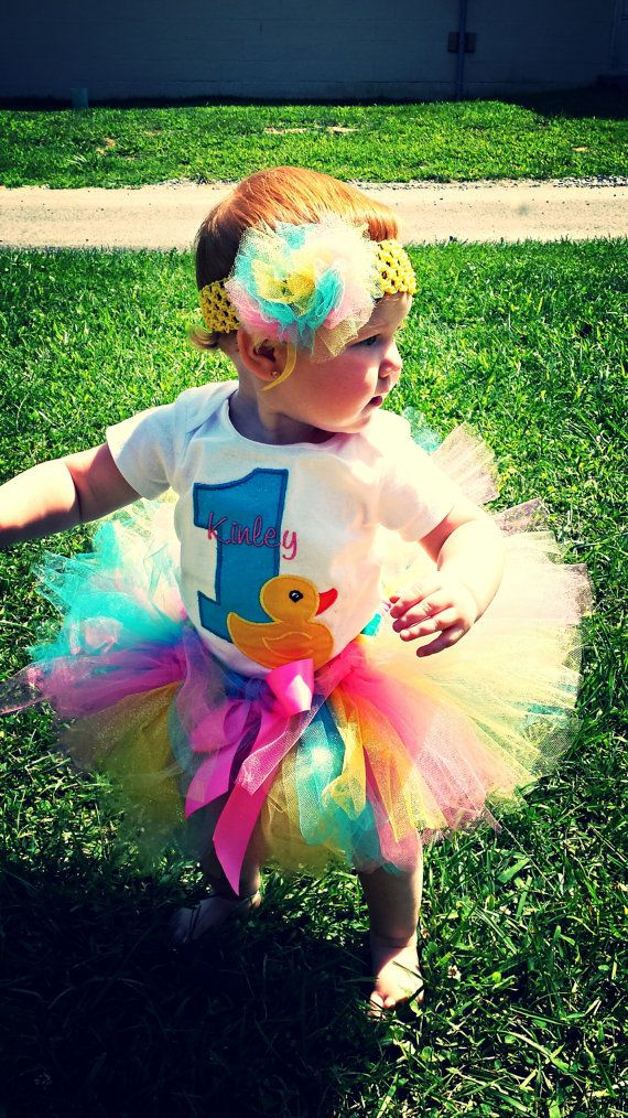 Rubber ducky birthday party outfit 3 pieces any age