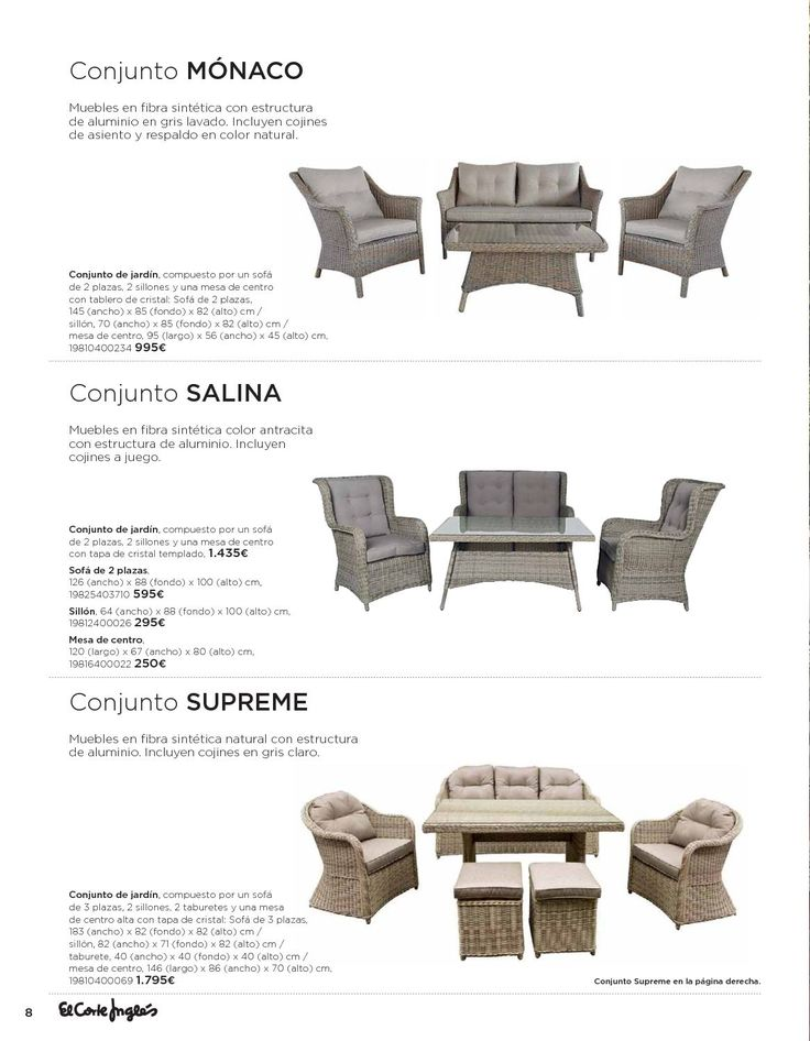 Catálogo El Corte Inglés: Directorio de muebles de terraza y jardin, ofertas y tienda online