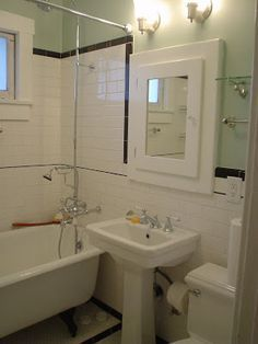 Small Bathroom, 1920 S Bathroom, 1920S Bathroom, Vintage Bathroom, Subway  Tile,