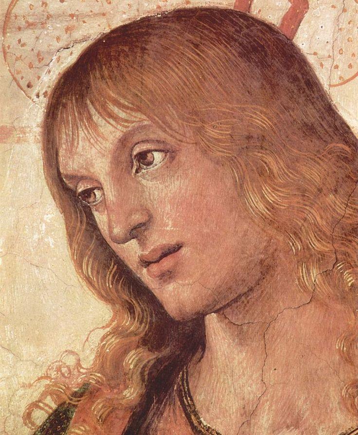 Pietro Perugino - Detail, The Delivery of the Keys, fresco