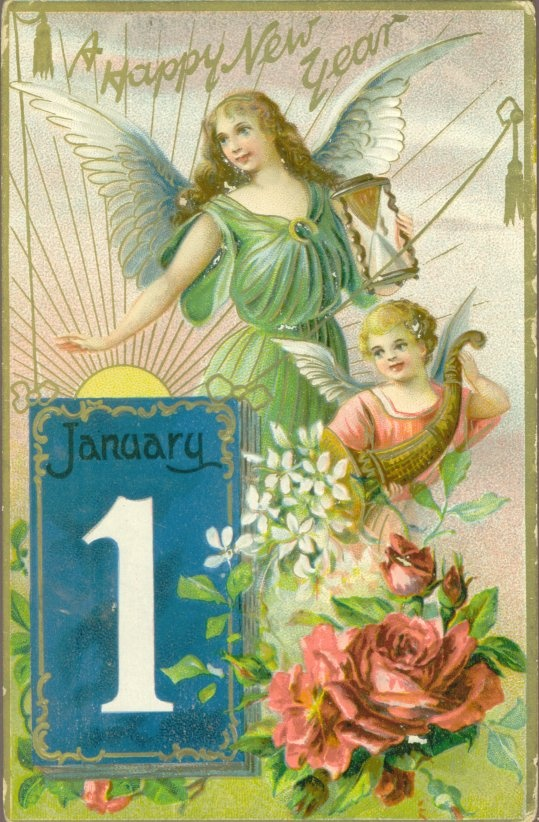 New Years card from Lerfald-Westaby Family Postcard Collection, 1909