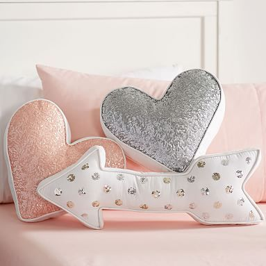 Shaped Sequin Pillows, [Pi Phi] Arrow! $39 #pbteen
