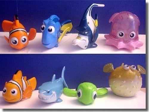 Finding Nemo Toys : Lot of new mcdonalds finding nemo toys complete set nip