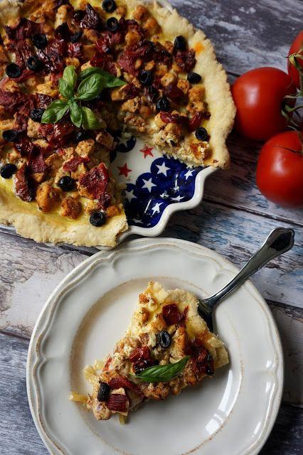 Pyry na Gaz: Quiche z kurczakiem i pomidorami