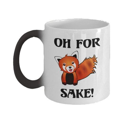 Hey, I found this really awesome Etsy listing at https://www.etsy.com/listing/497870366/color-changing-coffee-mug-for-fox-sake