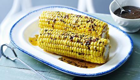 Tom Kerridge's corn on the cob with burnt-onion ketchup